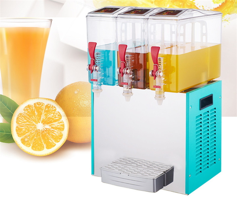 Jamielin Commercial Juice Cooling Making Machine Three-cylinder Juice Dispenser Drink Container Cold Drink Machine