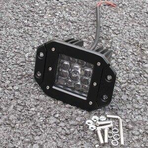Image 2 - Luz led de conducción de 3 pulgadas y 5 pulgadas para coche 4x4 todoterreno SUV ATV 4WD Pickup Trucks Wrangler 12V 24V luces de trabajo de montaje al ras de faros delanteros