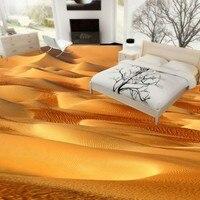 Free Shipping Custom Desert Bathroom Living Room 3D Stereo Flooring Tiles Backdrop Picture Wallpaper Mural