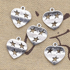 15pcs Charms Heart S...