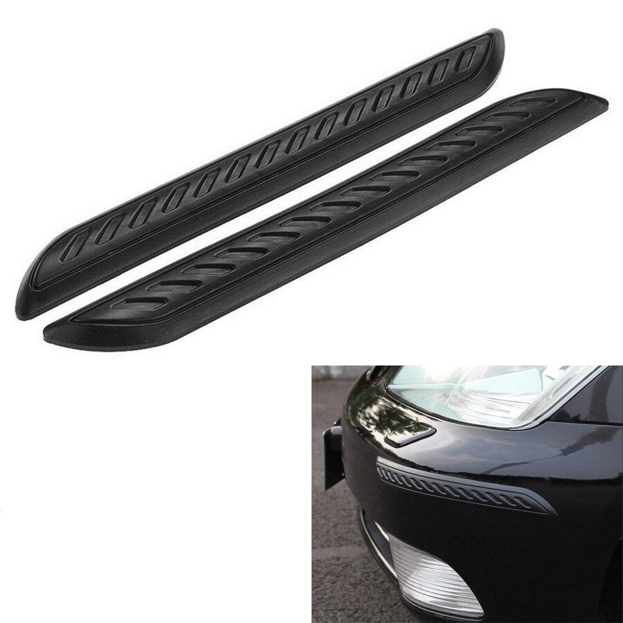 Rubber Protector Front//Rear Corner  Anti-rub  Scratch Guard Car Bumper Strip