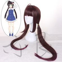 Ryuoh no Oshigoto Cosplay Wig Ai Hinatsuru Long Straight Ponytails Synthetic Hair