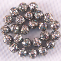 Blue Natural 16MM New Zealand Abalone Shell Round Loose Beads Free Shipping String 15.8O123