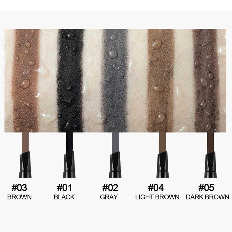 HANDAIYAN 5 Renk Uzun Ömürlü Çift Uçlu Kaş Kalemi Su Geçirmez Hiçbir Çiçeklenme Dönebilen Üçgen Kaş Kalemi TSLM1