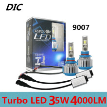 DIC Turbo Car Headlight 35W 4000LM H1 H7 LED H4 Hi/Lo H8 H11 H13 9005 HB3 9006 9012 Fog Bulb 9007 H3 Lights SUV Driving Headlamp