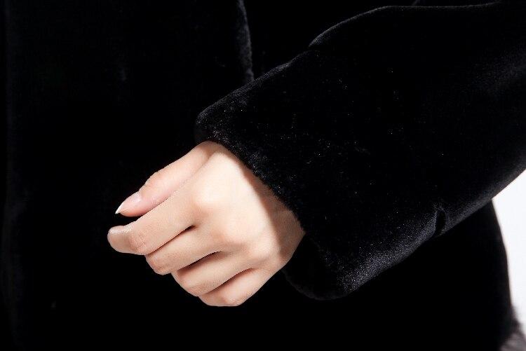 Haute Gratuite Martre Trim With Femmes Imitation Épais Grey De Blackish Velours black Coffee 2018 Chaud âge Manteau Fourrure Hiver Moyen Livraison Qualité Survêtement Vison TxEOq7Ag