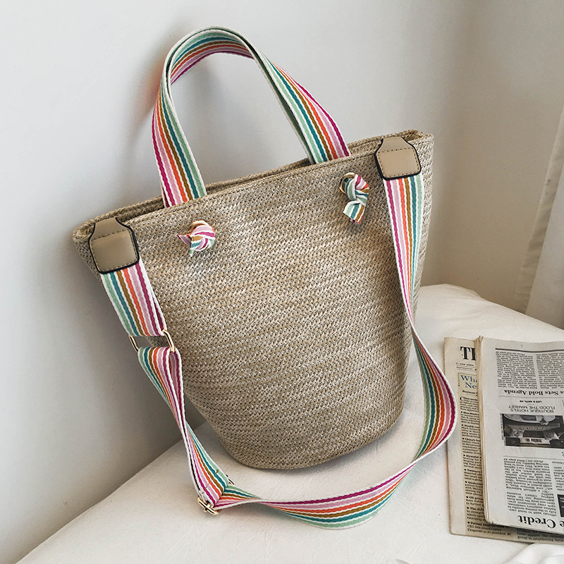 Straw Shoulder Bags For Women 2019 Summer Beach Bag Ladies Crossbody Messenger Bag Female Travel Luxury Designer Handbags Totes