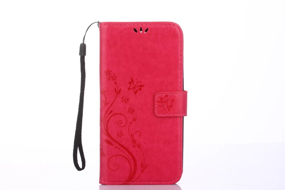 30Pcs/Lot Butterfly Printing Wallet PU Leather+TPU Case For Google Pixel/Pixel XL/For HTC 626/For Alcatel PIXI 3/For LG LS770
