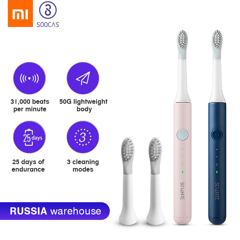 Xiaomi Mijia Sonic Toothbrush SO WHITE EX3 Electric Tooth Brush Youpin Wireless Charging Waterproof Ultrasonic Automatic Brush