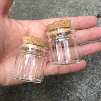 37x40x27mm 20ml Cute Glass Vials Glass Bottles with Corks Small Glass Jars Gift Bottles 50pcs Factory Wholesale Free shipping