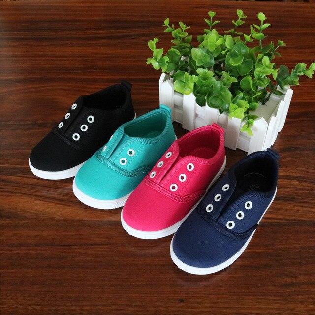 Apakowa 2017 אביב ילדי בד נעליים לפעוטות בני בנות בד סניקרס ילדי בד נעלי בנות דירות להחליק על נעליים יומיומיות