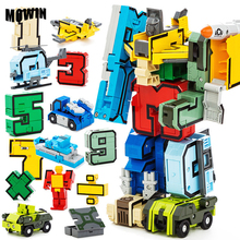 MOWIN 2017 New Design Baby Education Action Transformation Robots Toys Children Boys War Car Model Figures Safety ABS kids Toys