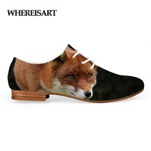 WHEREISART PU New Arrival Leather Shoes Men Breather  Fashion Loafers Flat Spot Printing Fox Pattern