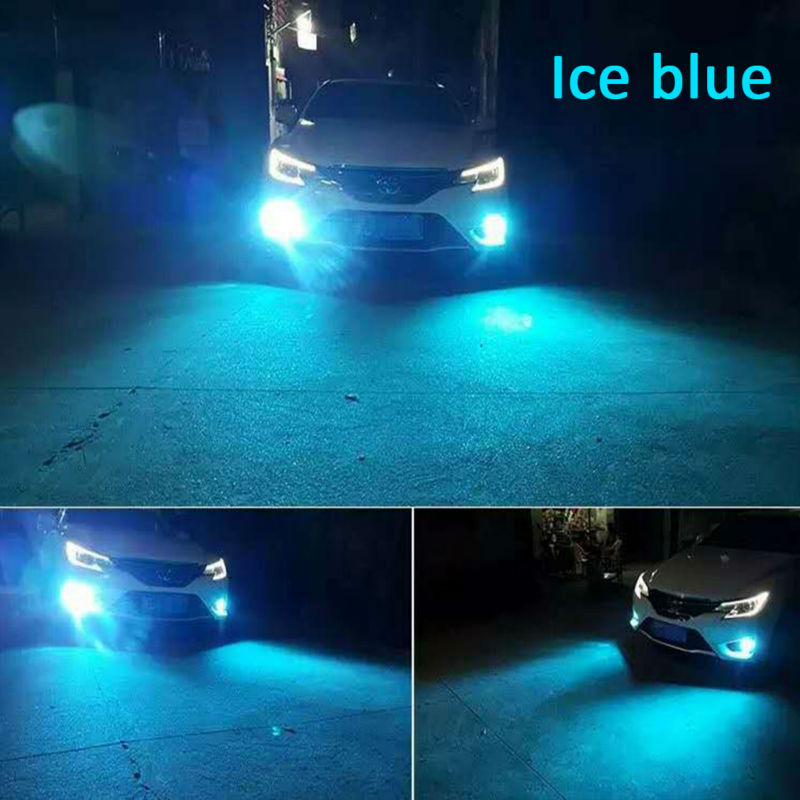 dual color car styling led fog bulb golden yellow white ice blue