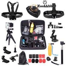 Zookkbb For gopro3 gopro4 accessory mini tripod 360 wrist chest head strap for Xiaomi yi Camera Accessories 14A