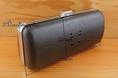 metal purse frame with box glue on silver nickel 9 1/2 inch X 4 inch Z97