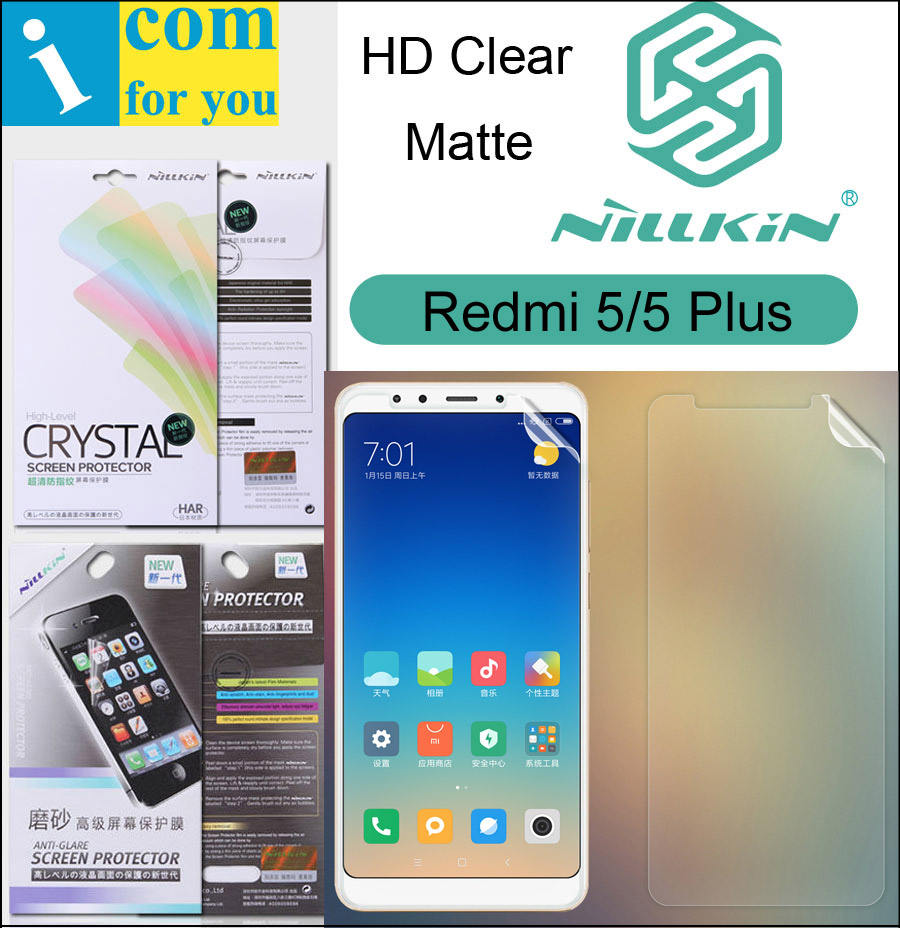 Nillkin Matte HD Clear Screen Protective Film For Xiaomi Redmi 5 Plus 5.7 5.99 inch Soft Transparent Crystal