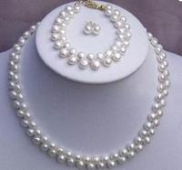 Birthday Jewelry Natural Pearl Jewelry Set 17 7 5 White Freshwater Pearl Necklace Bracelet Earrings