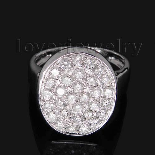 ୧ʕ ʔ୨Vintage sólido 14Kt oro blanco diamante anillo de compromiso ...