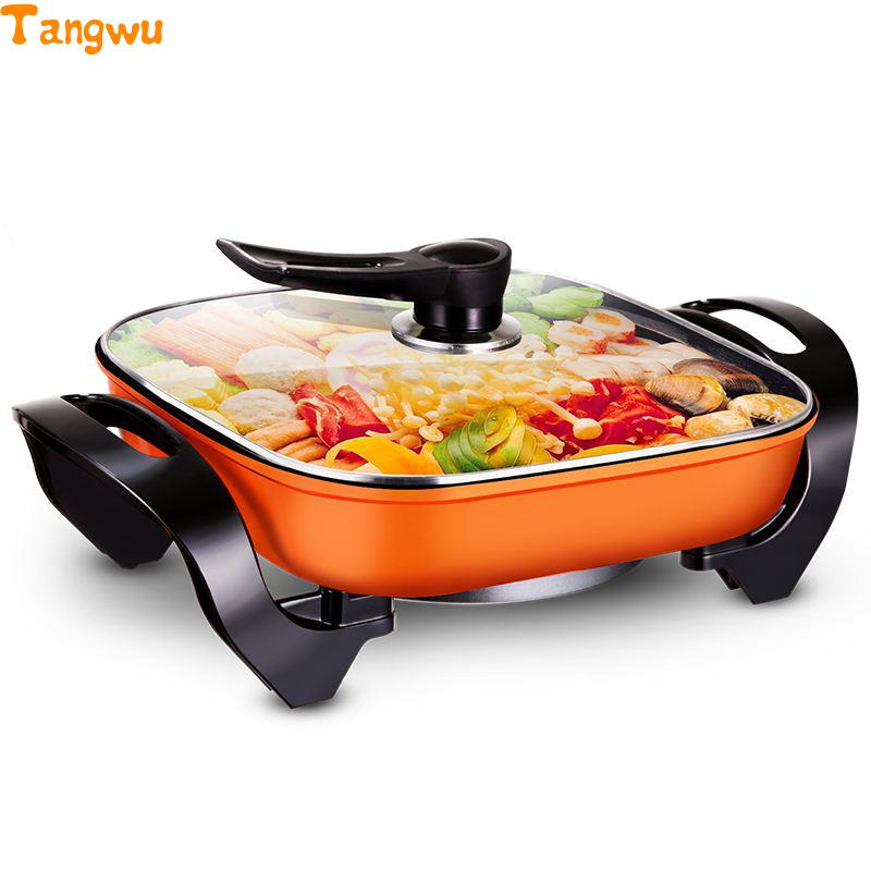 Free shipping Household multifunctional electric Hot pot Nonstick Frying Pan Korean skillet Multi Cookers Electric Skillets ботинки baden baden ba993amcujq9