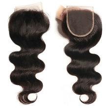 Yavida Peruvian Hair Body Wave 4*4 Lace Closure 100% Human Hair Natural Color Non Remy Hair Free/Middle/Three Part Closure