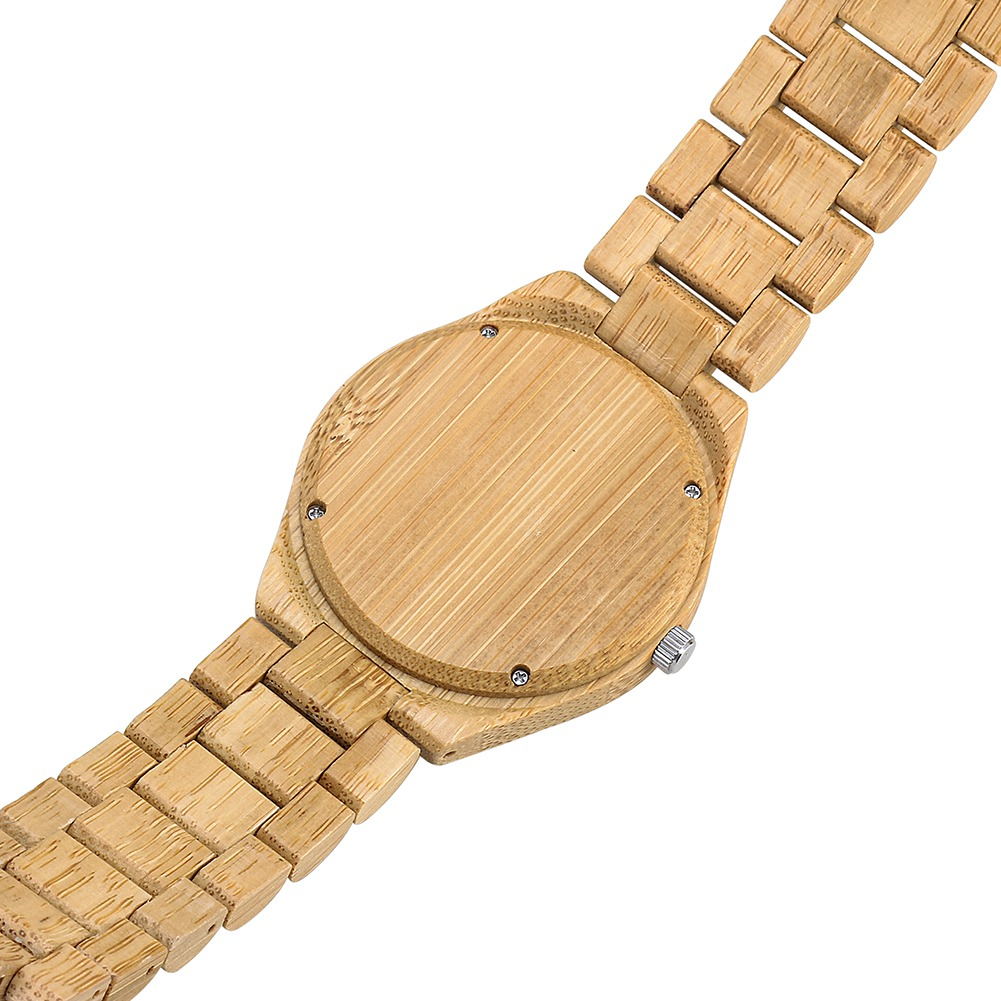 Fashion Men Bamboo Wood Watches Luxury  Quartz Watches Casual Simple Wristwatch Unique Watch Gifts With Box LL@17 fashion men bamboo wood quartz analog watch with genuine leather for men nature zebra stripe unique watch relogio clock gifts
