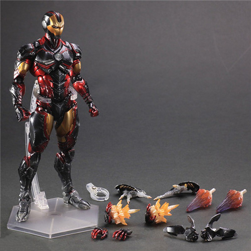 ФОТО PlayArts KAI Marvel Iron Man Kits PVC Model Action Figure Doll Toy For Collection 27CM