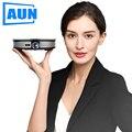 Мини-проектор AUN D8S, 1280x720 P, Android 6,0 (2G + 16G) wifi. Аккумулятор 12000 мАч, портативный 3D beamer. Поддержка 4K для домашнего кинотеатра