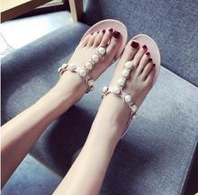 2017 verano grande de plástico sandalias planas de cristal zapatos de la jalea de plástico zapatos de playa sandalias femeninas chanclas