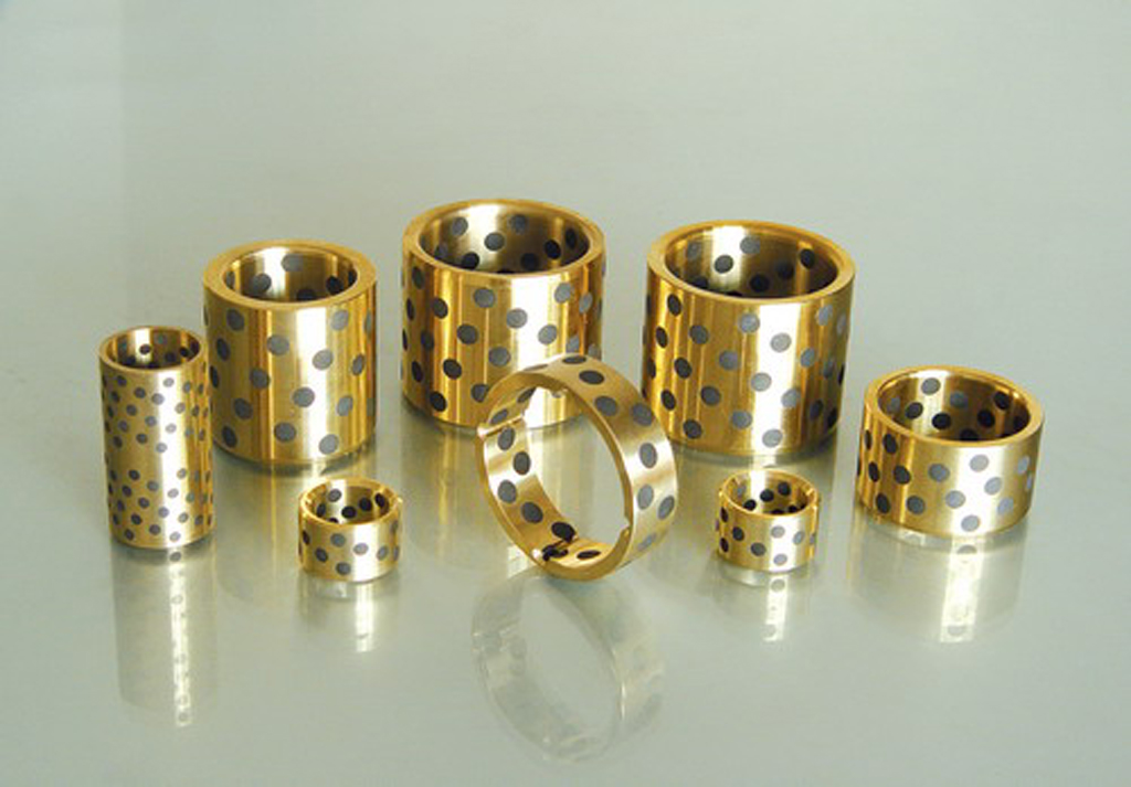 1Pc / 1Piece JDB 061010 0610 6 X 10 X 10 Mm Linear Graphite Lubricating Brass Bearing Bushing Sleeve Oilless Self-lubricating *