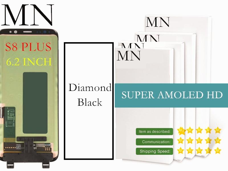 imágenes para 100% Probado Super AMOLED Pantalla LCD Para Samsung S8 S8 S8 Más G950 G955 LCD Digitalizador Asamblea-Negro Diamante