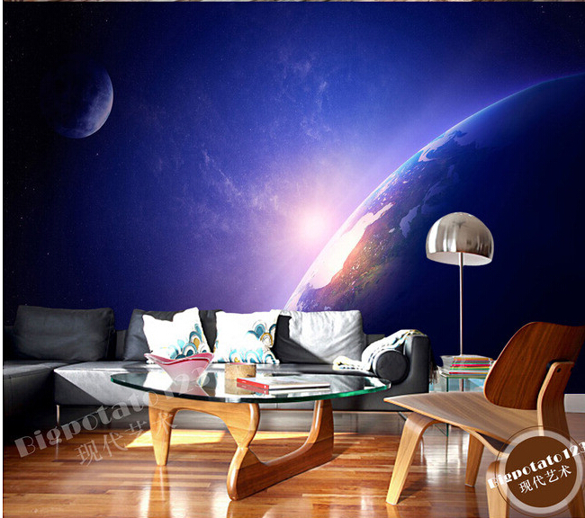 The custom 3D murals,the sun shines the earth beautiful aerial de parede,living room sofa TV wall bedroom wall paper the custom 3d murals the new york times center building street black and white living room sofa tv wall bedroom wall paper