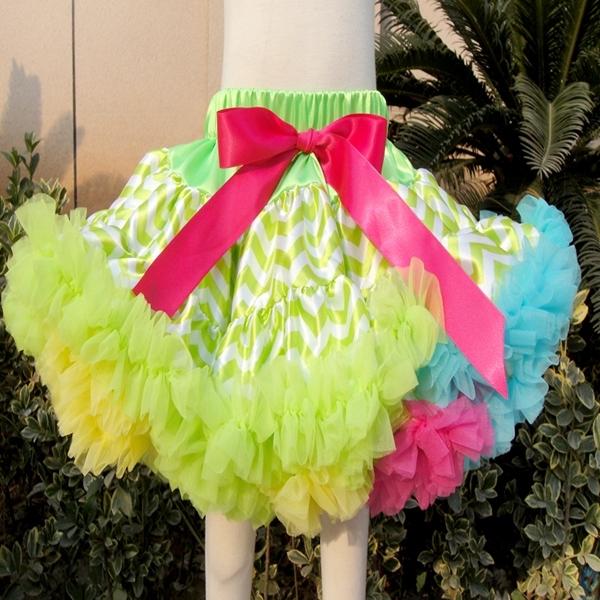 Cuento de hadas de la falda del tutú con arranque fajas Pettiskirt niños ropa niños prendas de vestir PETS-162