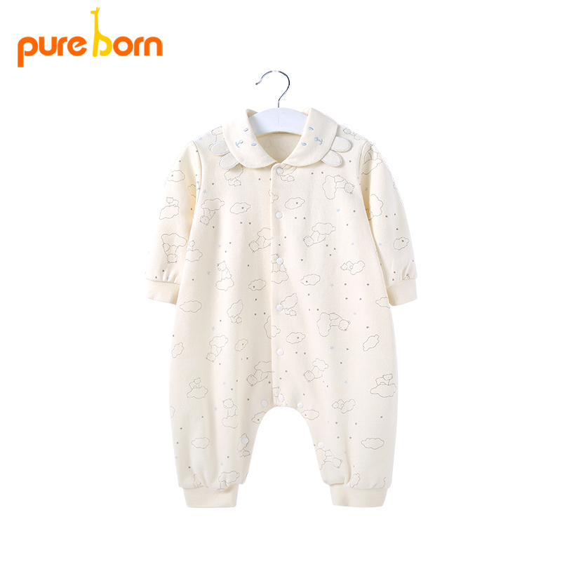 Cute Cartoon Dog Circus Baby Boy Kids Warm Infant Long Sleeve Romper Jumpsuit Clothes Outfit