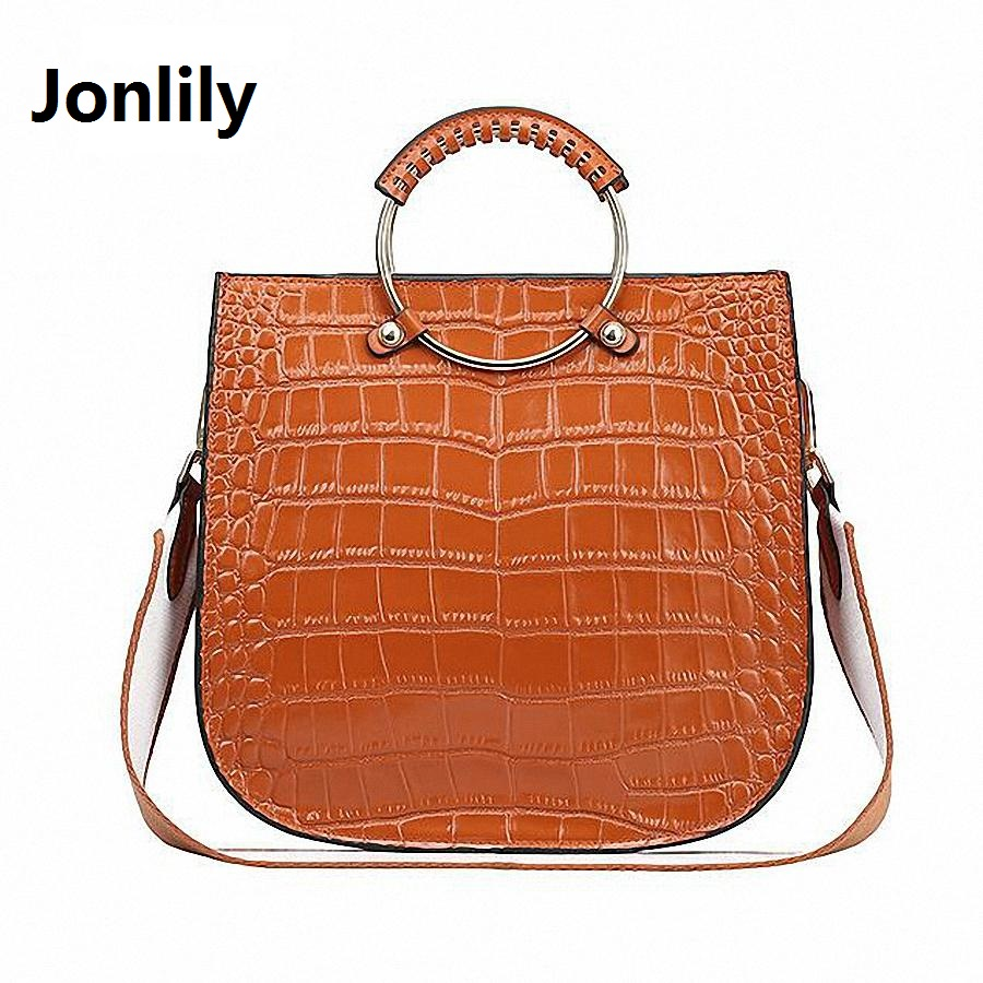 Jonlily Genuine leather bag ladY 2017 crocodile Women messenger bags handbags women famous brand designer high quality-SLI-147 motorcycle accessories rear fender eliminator license plate bolt screw for harley dyna softail sportster black silver