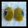 Floco de neve de, Amarelo Opal brinco de pérola, 34 x 23 x 5 mm, 11.09 g