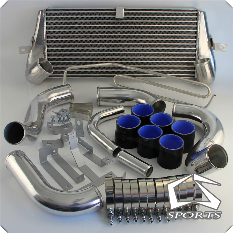 Fits For MAZDA 93 94 95 96 97  RX7 FD3S FMIC FRONT MOUNT INTERCOOLER + PIPING TURBO BLUE/Black/Red|  - title=