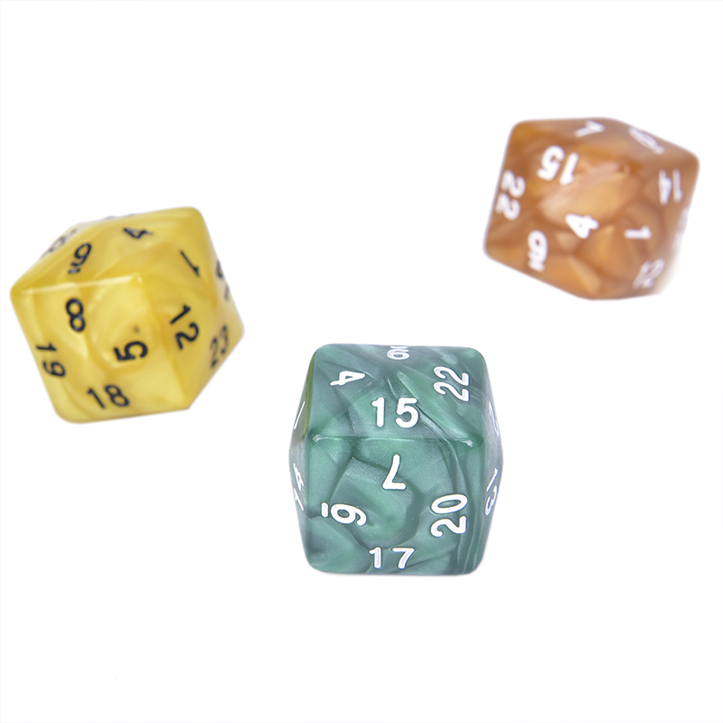 1pcs D24 Multi Sided Acrylic Dice For TRPG Game Lovers 24 Face Dice For Game Polyhedral New Arrival