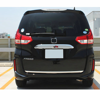 JY SUS304 Stainless Steel Rear Trunk Tailgate Lower Trim Car Cover Accessories For Honda FREED GB5/6/7/8 2016 up
