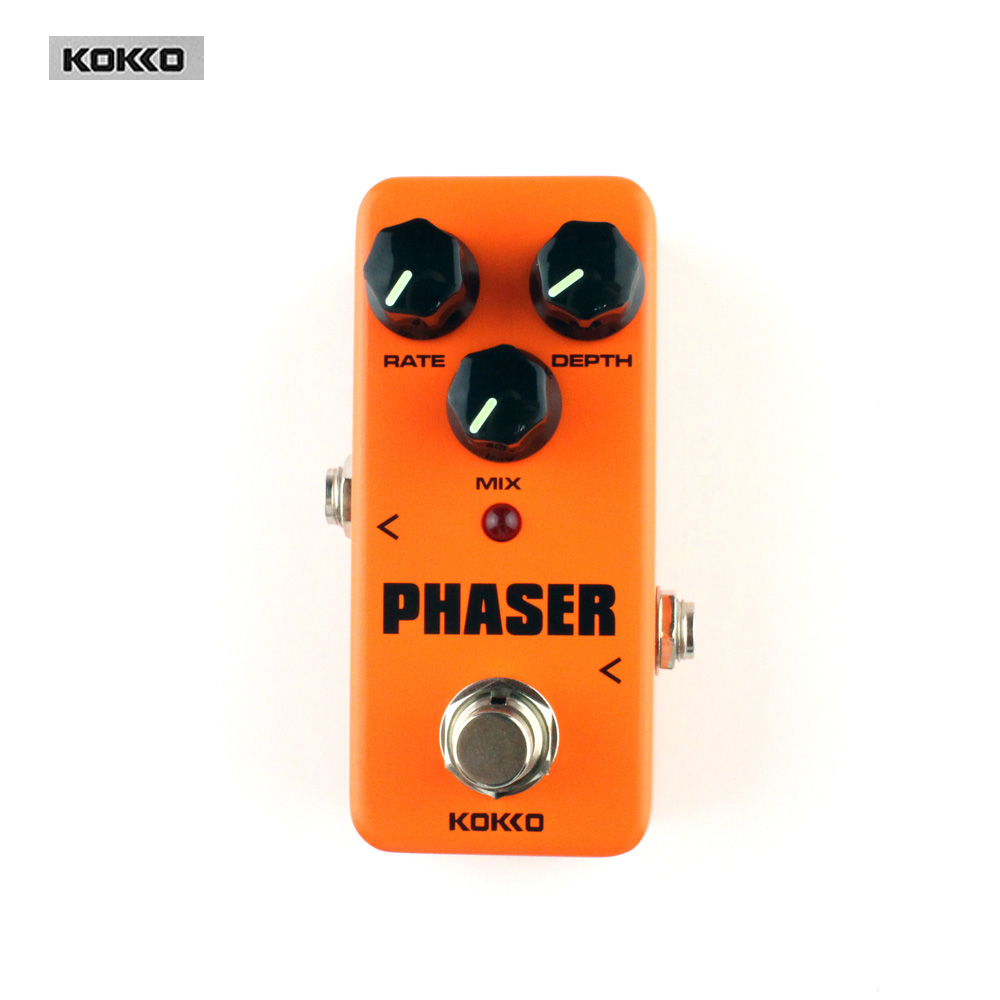 Guitar Parts & Accessories KOKKO FPH2 Mini Phaser Analog Guitar Phase Effect True bypass Guitar effect pedal aroma adr 3 dumbler amp simulator guitar effect pedal mini single pedals with true bypass aluminium alloy guitar accessories