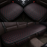 Car Seat Cover Sturdy Knitting Leather Cushion Breathable Car Seat Cover Top Quality 2 PCS Front