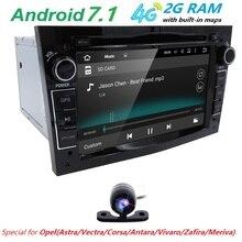 Android7.1 2DIN DVD GPS for Vauxhall Opel Astra H G J Vectra Antara Zafira Corsa Multimedia screen car radio stereo audio 4GWIFI