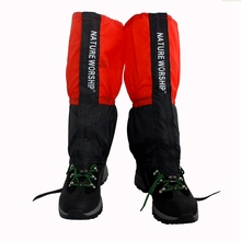 купить Natrure woship 1 Pair Waterproof Outdoor Hiking Walking Climbing Hunting Snow Legging Gaiters ski gaiters Men Women Leg Warmers дешево