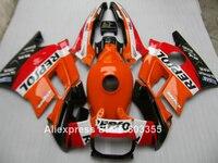 Orange repsol Fairing kit for Honda CBR 600 F2 1992 1991 1993 1994 cbr600 ( + tank cover ) fairings 94 93 92 91 xl61
