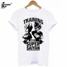 "Berserk ""TRAINI"" Dragon Ball Son Goku Printed T-Shirt Summer Vintage Comics Cool White T Shirts  Fitness 4XL Tops H962"