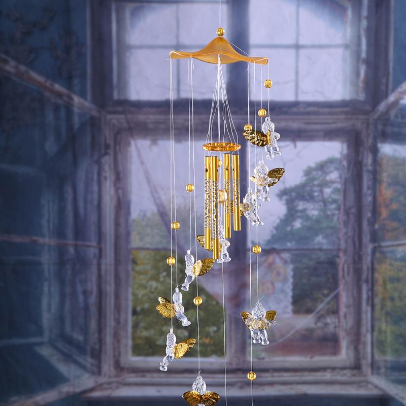 Wind Chimes Angel Cupid Amazing Tubes Bells Copper Yard Garden Outdoor Living Wind Chimes Wall Hanging Dream Catcher Home Decor