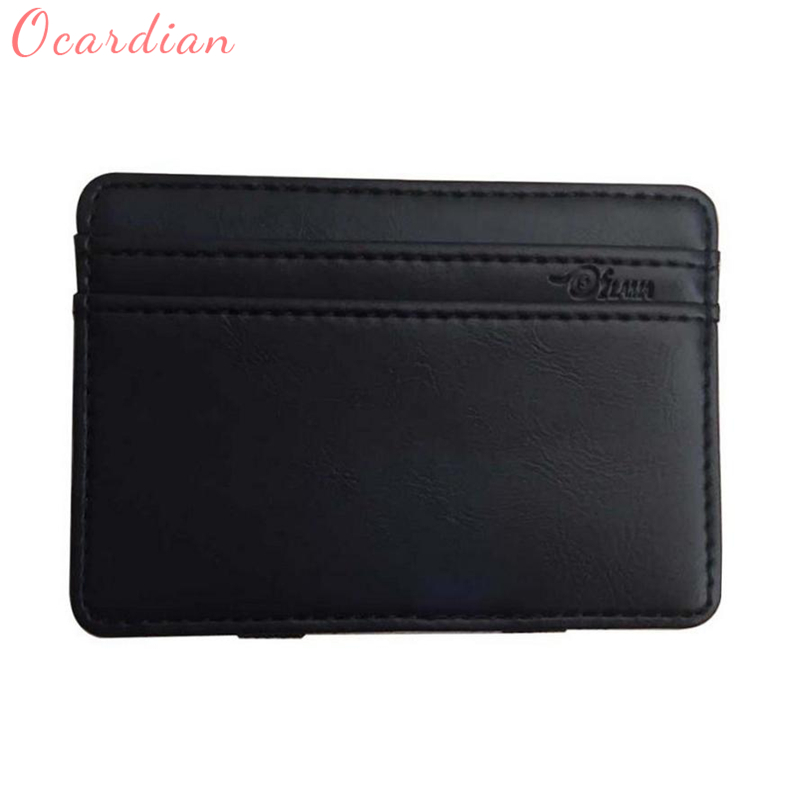 2018 Ocardian Mini Leather Wallet Wallet ID Credit Card Holder Male Small Walllets Fit for all style of clothes best gifts C0126