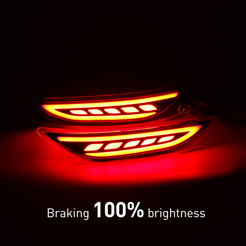 KEEN For Honda City Car LED Rear Bumper Reflector Light LED Parking Warning Stop Brake Lamp Tail Lanter universal fog lamp dongzhen fit for nissan bluebird sylphy almera led red rear bumper reflectors light night running brake warning lights lamp