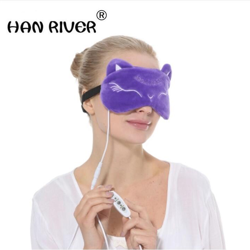 New free shipping steam eye mask USB time adjustable temperature hot compress shading sleep patch electric heating, the gift of 100ml 130w electric temperature regulation heating mantle temperature adjustable pthw