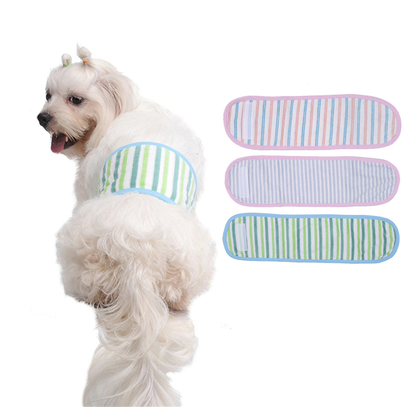 Striped Male Dog Puppy Anti-harassment Sanitary Pants Diaper Underwear Hygienic Pets Dogs Courtesy Physiological Panties for Dog